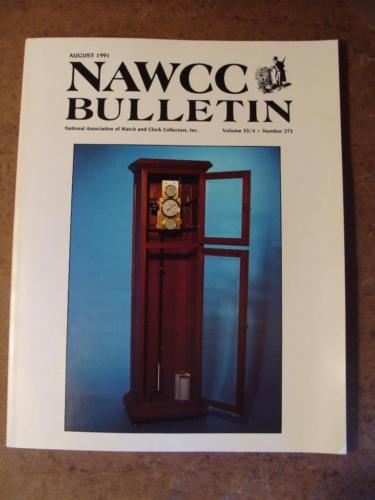 NAWCC Bulletin #273 August 1991 Tower Clock Henry Warren Wristwatches A.D. Crane