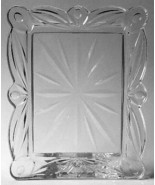 "Hand Cut 5 x 7 Block Crystal  Alone Photo Frame "" Tulip Garden""  - $19.99"