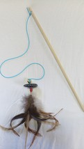 Smart cat toy - Interactive cat teaser wand with feathers - $19.99