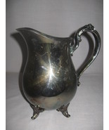 Silver Plate Oneida Water Beverage Pitcher With... - $15.99