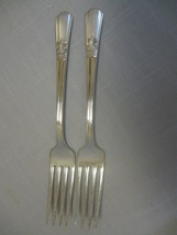 International Silver Co Qty 2 Court Dinner Forks Discontinue Actual 1939 - $9.95