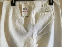 Michael Kors pants linen sz 8 white logo on back $120 - $34.64