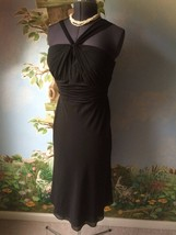 Jones Wear Womens Black Chiffon Dress SZ 10 NWT - $39.59