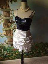 B. Darlin Juniors  Blue and White Sequin Bubble Dress SZ 3/4 - $16.81