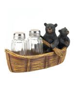Salt & Pepper Shaker Set - Black Bear Canoe - $19.95