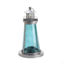 Candle Lantern - Blue Glass Watch Tower - $19.95