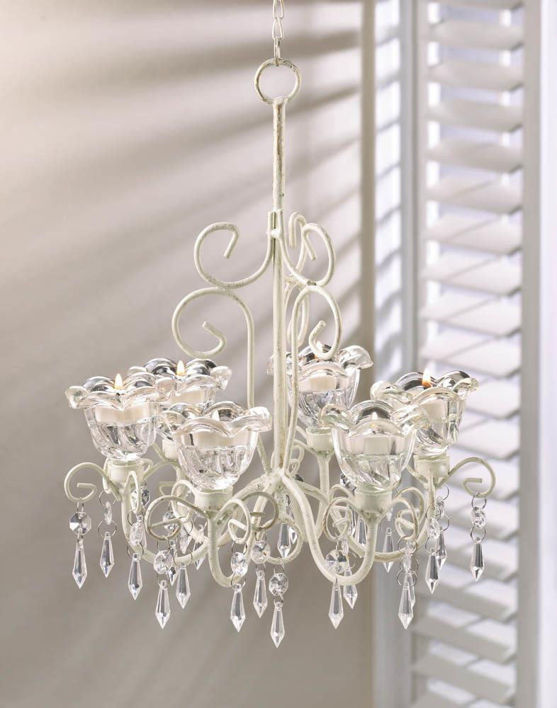 Candle Chandelier - Crystal Blooms