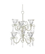 Candle Chandelier - Crystal Blooms - Double Tiered - $29.95