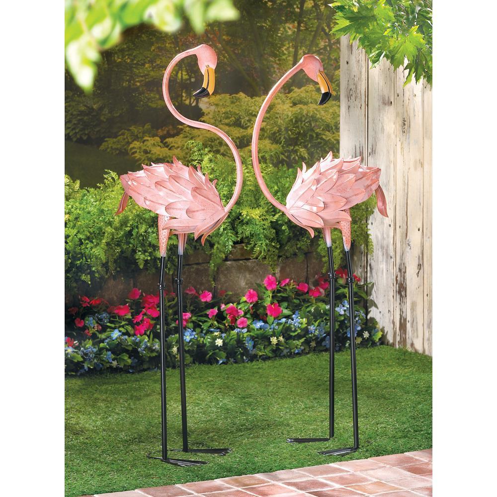 Garden Stakes - Flamboyant Flamingo - Set of 2
