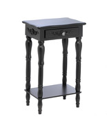 15081 Side Table - Colonial Carved - Black - $45.95
