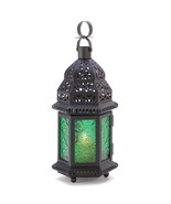 Candle Lantern - Moroccan - Green Glass - $14.95