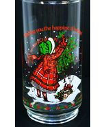 Holly Hobbie Coca Cola Limited Ed Glass Happiest Holidays 1982 - $6.95