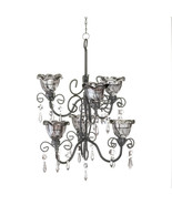 Candle Chandelier - Midnight Blooms  - Double Tiered - $29.95