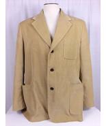 Nautica Beige Tan Corduroy 3 Buttons Lined Sport Blazer Jacket Coat Siz... - $35.00