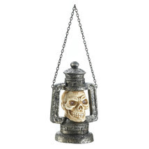 10017684 Halloween - Skull Head Lantern w/ LED Eyes - $281,62 MXN