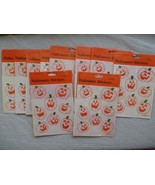 Vintage Halloween Stickers Lot -20 Packages Gli... - $19.79