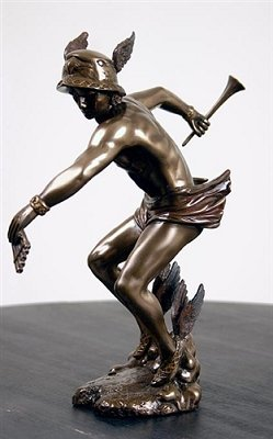 Bronze Greek Olympian God Hermes Statue