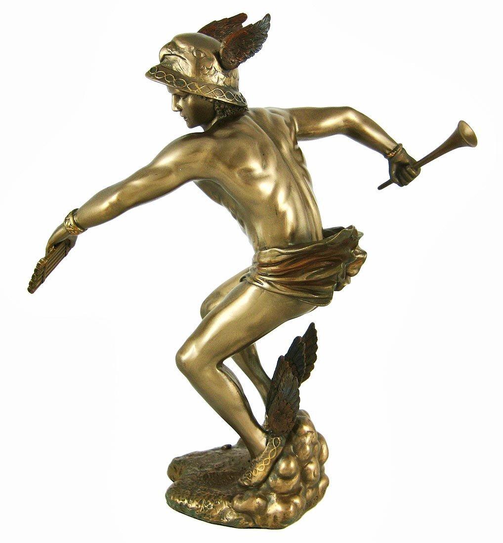 Greek God Hermes Bronzed Finish Statue and 50 similar items  Hermes Statue