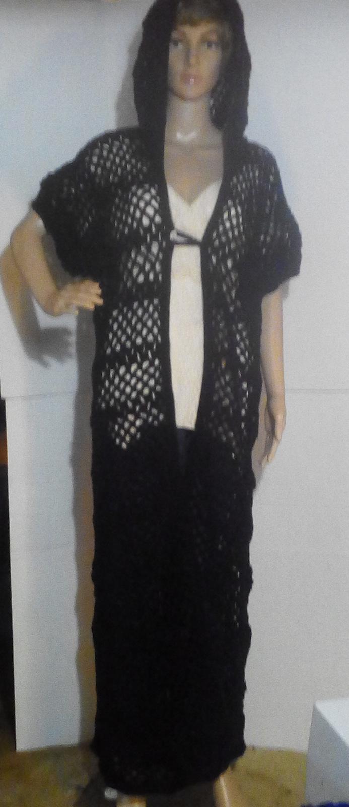 Black Crocheted Coat