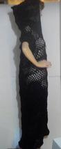 Black Crocheted Coat image 2