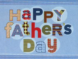 Greeting Card Themed Happy Father's Day Card - $2.95