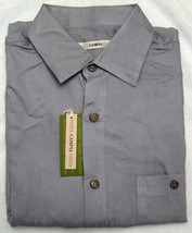 Campia Moda Gray Button Front Short Sleeve Shirt - Size Medium - $21.95