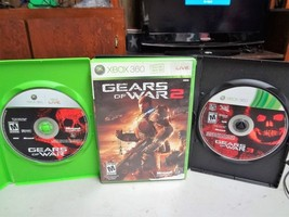 LOT (3) - XBOX 360 - GEARS OF WAR 1 & 2 & 3 - VIDEO GAMES #2 - $18.99