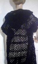 Black Crocheted Coat image 3