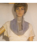 Gray Crocheted neck cowl. - $19.95