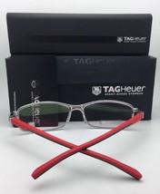 New TAG HEUER Eyeglasses TH 0803 012 54-16 142 Matte Black-Red Rectangular Frame