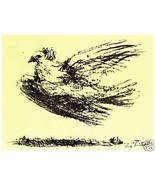 PABLO PICASSO LITHOGRAPH SIGNED 1964 w/COA. unique item, gift Dove Icon ... - $195.00