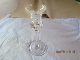 """Glass Candle Stick Holder 7 1/4"""" - $6.25"""