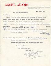 1960 Ansel Adams Letter Gene Tepper Plato Photography Prints Autograph S... - $2,902.50