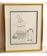 Signed Nedobeck Original Print,Framed ~Matted  - $29.90