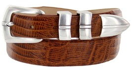 Marin Silver Genuine Italian Calfskin Leather Designer Dress Golf Belt f... - $29.20