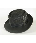 Men Summer Straw Style Hat BRUNO CAPELO Pork pie RO910 Black Free Shippi... - £45.94 GBP