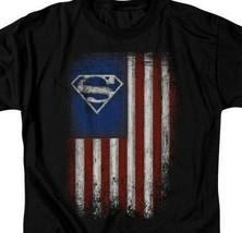 Superman T-shirt Patriotic Old Glory DC Comics retro graphic tee SM2501 image 2