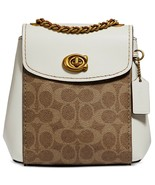 Coach Parker 16 Signature Canvas Backpack Crossbody ~NWT~ Chalk 69650 - $292.05