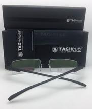New TAG HEUER Eyeglasses TH 0821 006 56-18 142 Ruthenium & Burgundy Semi-Rimless