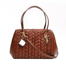 Coach Madison Gathered Chevron Leather Madelyn East West Tote 25985 Ches... - $519.75