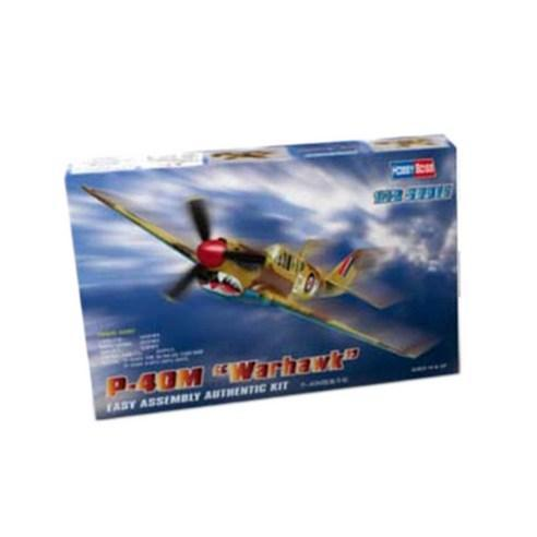 HobbyBoss 1:72 US P-40M War hawk fighter plastic model - $19.17