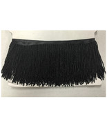 "By Yard 6.5"" Black Glass Seed Bead Beaded Fringe Lamp Lampshade Costume ... - $16.98"