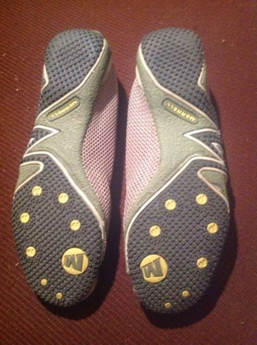 Merrell Womens Relay Tour Mary Jane Loafers Shoes 9M Olive Green Suede & Mesh