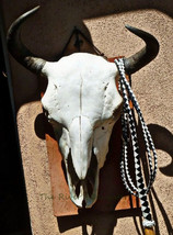 Buffalo Skull on Adobe, Southwest Art on Wood, ... - $70.00