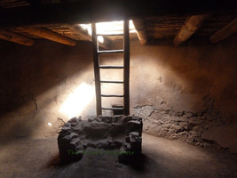 Kiva Ladder, Southwest Art, 5 x 7 Matted Photograph, Digital Art, Origin... - $20.00