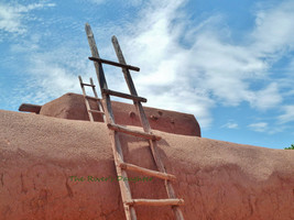 Ladder on Adobe, Southwest Art, 8 x 10 Matted Photograph, Digital Art, O... - $26.00