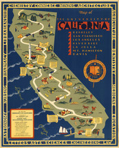University Campuses of California Map Wall Art Poster Decor Vintage History - $12.38+
