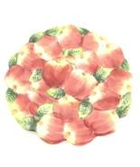 "World Bazaars Embossed Apples Decorative Plate 9"" Excellent - $14.10"