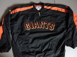 MLB Majestic Authentic San Francisco Giants Sewn Pullover Dugout Jacket XL - $37.50