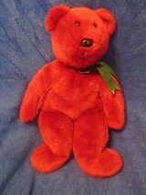 Ty Beanie Buddy Cranberry Teddy Old Face NO TAGS 1998 - $29.69